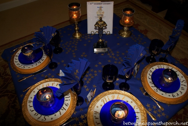 Academy Awards Party Table Setting 12
