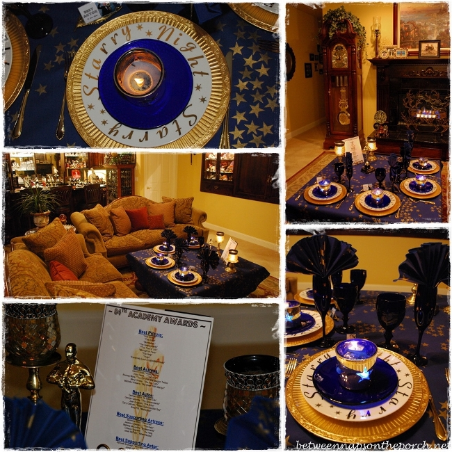 Academy Awards Party Table Setting 13