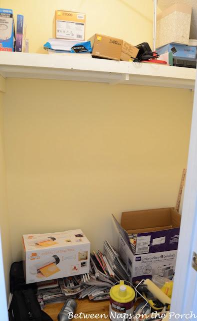 Closet Before Adding Ikea Expedit