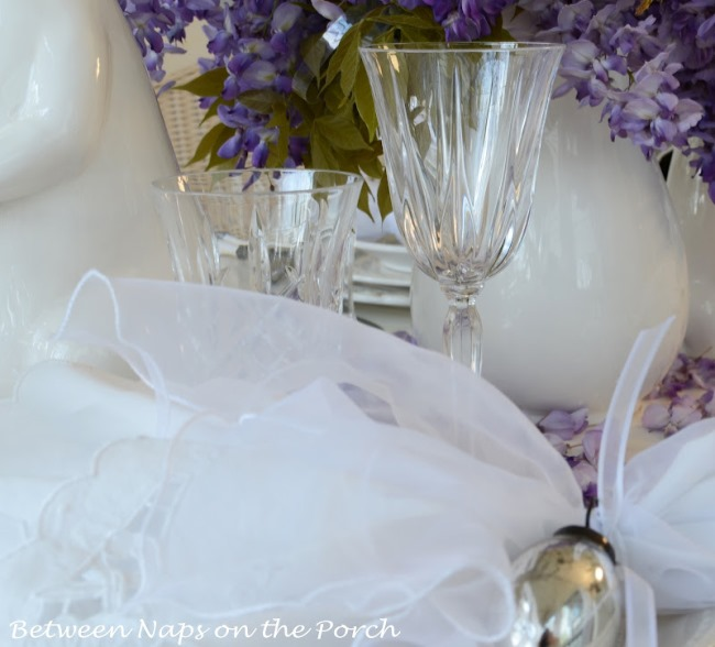 Crystal Stemware for Easter Table Setting