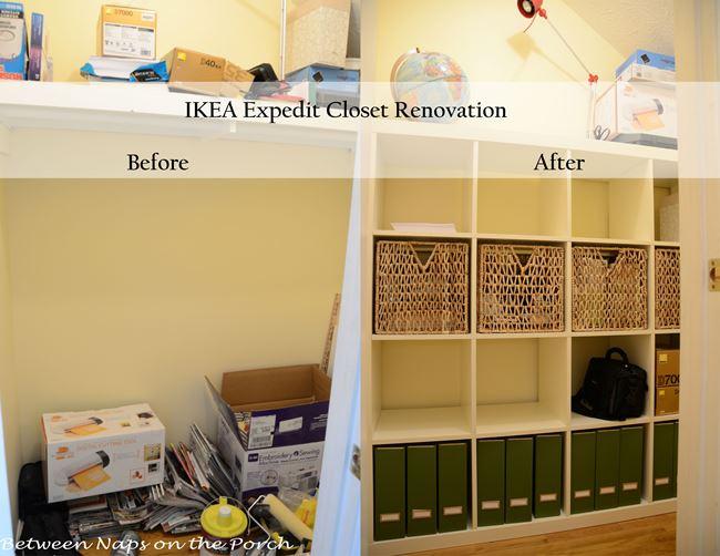 IKEA Expedit Built Inside Closet