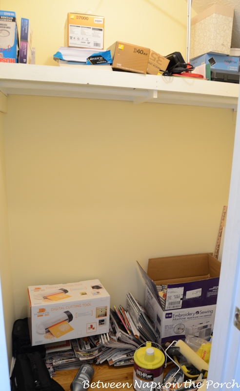 Office Closet Before Installing Expedit