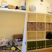 IKEA Expedit Closet Storage Organization