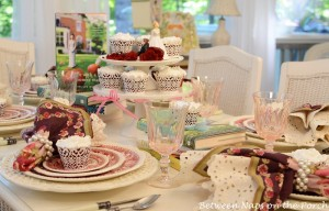 Book Themed Table Setting with Spode Tower
