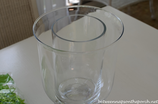 DIY Double-Bowl Vase Hurricane, Pottery Barn Inspired