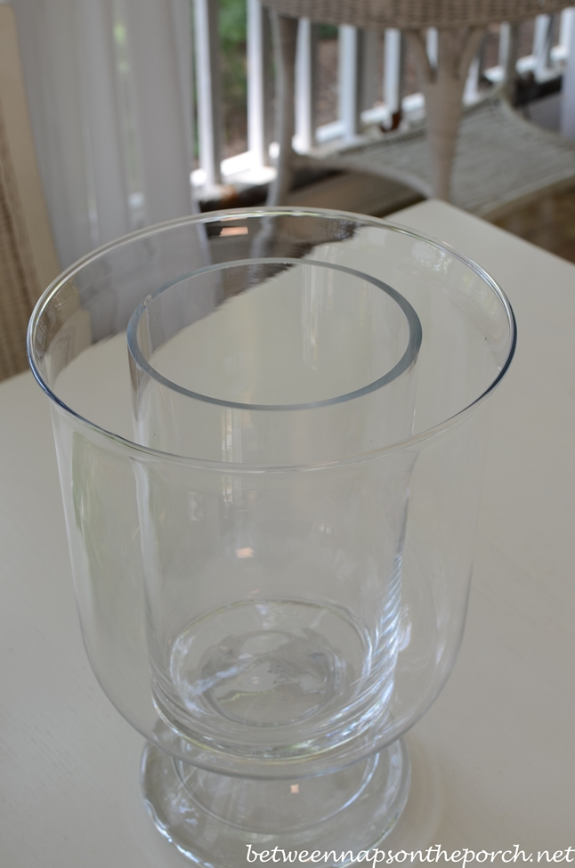 DIY Double-Bowl Vase Hurricane, Pottery Barn Knock-off