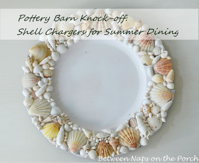 Make Shell Charger, Pottery Barn Knock-Off