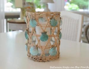 Seashell Craft Candle Pillar Holder