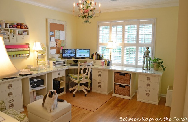 Home Office Renovation with Pottery Barn Bedford Furniture