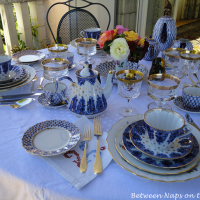 Blue and White Table Setting with Lomonosov Porcelain