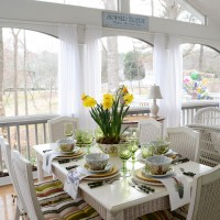 Springtime Table with a Daffodil Centerpiece