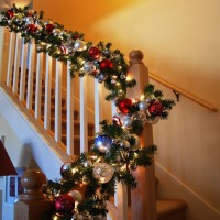 Beautiful Christmas Banister