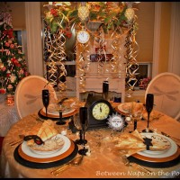 Elegant New Year's Eve Table Setting