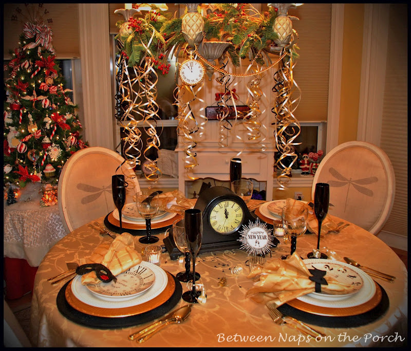 New Year's Tablescapes and Table Settings