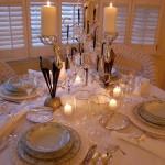 Winter Table with Swarovski Snowflake & Star Centerpiece