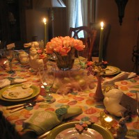 Candlelight Easter Table Setting