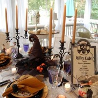 Halloween Tablescape: Dining in the Killer Cafe