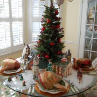 Christmas Setting with Dept. 56 Churches