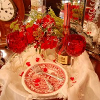 Five Tablescapes, One Silver Tray