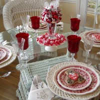 A Valentine's Day Table Setting with a Sweet Centerpiece