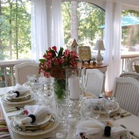 A Spring Table Setting on the Porch