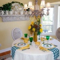 Country Gingham and Tropical Paradise Tablescapes