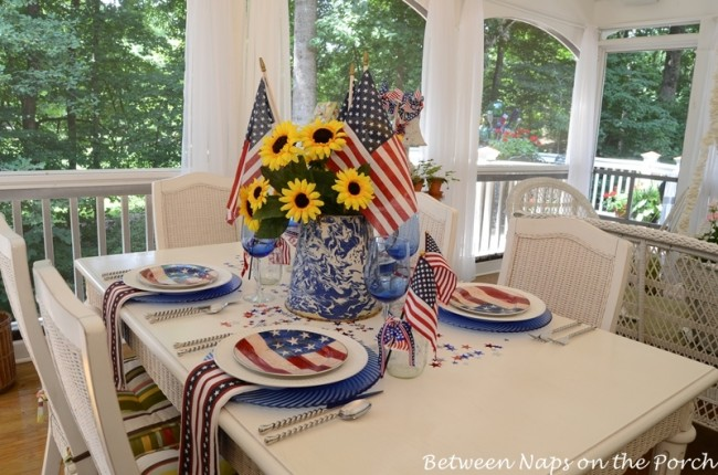 4th of July, Independence Day Table Setting