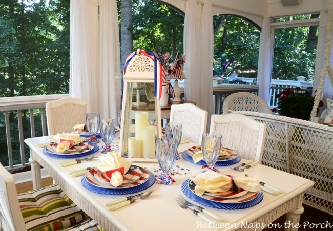 4th of July, Independence Day Tablescape Table Setting