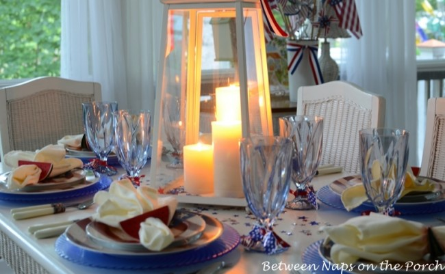 4th of July, Independence Day Tablescape, Table Setting