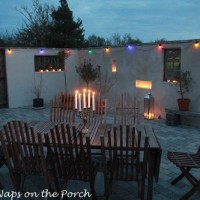 Sunroom and Candlelit Patio in Gotland, Sweden