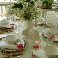Easter or Spring Table Setting