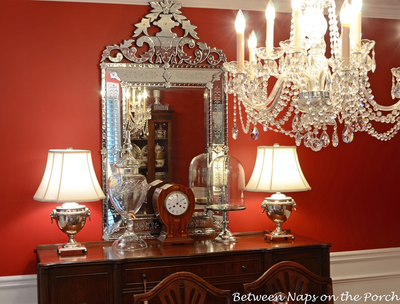 Dining Room Venetian Glass Mirror