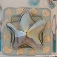 Starfish Napkin Fold for a Beach Themed Table Setting