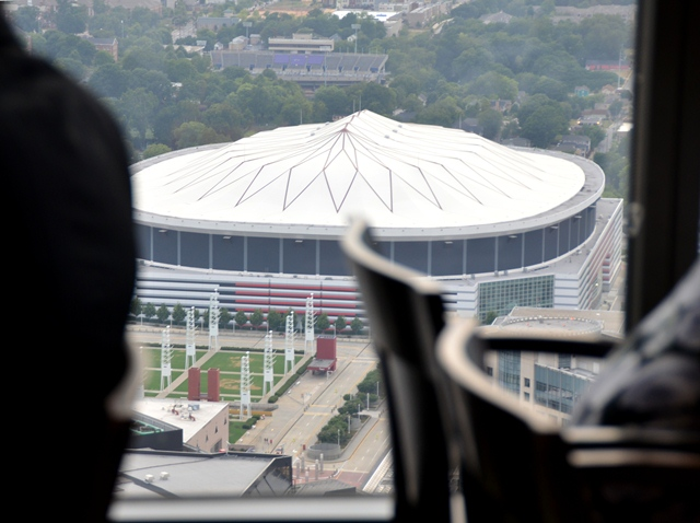 View of The Dome from the SunDial Restaurant atop the Westin Peachtree Plaza Hotel