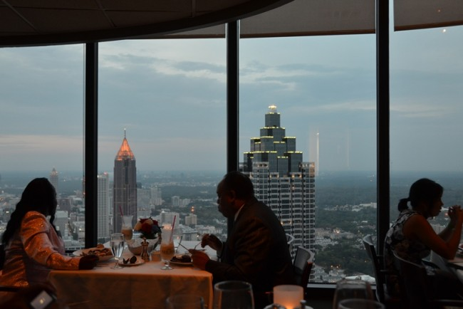 View of Atlanta from the SunDial Restaurant atop the Westin Peachtree Plaza Hotel