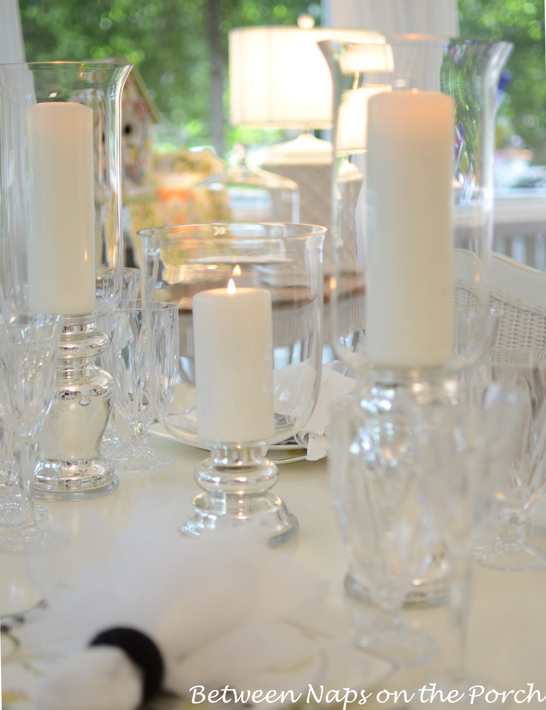 Elegant, Candlelit Summer Tablescape Table Setting