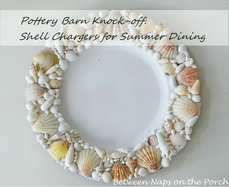 Pottery Barn Knockoff: Shell Chargers