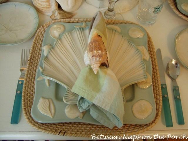 Beach Themed Table Setting