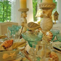 Beach Themed Table Setting for This Special Tablescape Thursday