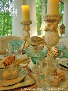 Beach Tablescape Table Setting