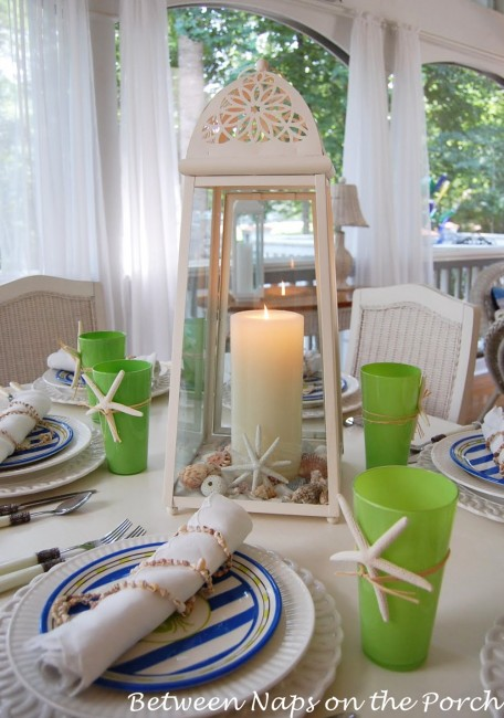 Beach Inspired Table Setting