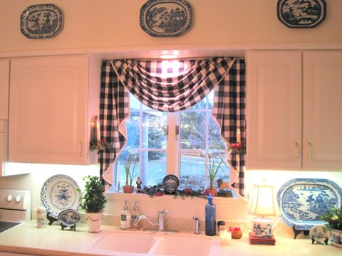 Buffalo Check Curtains for the Kitchen