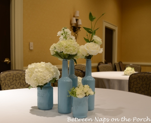 ... centerpieces recycled bottles and vases become beautiful centerpieces