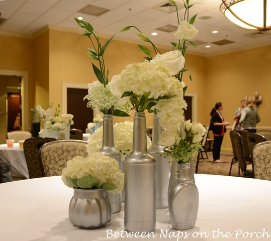 Flower Arrangements In Wine Bottles: Recycled Bottles And Vases Become Beautiful Centerpieces
