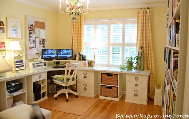 Pottery Barn Inspired Home Office