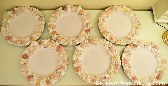 Shell Chargers for Nautical Table Settings