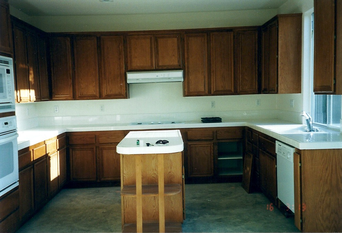 superior How To Paint Stained Kitchen Cabinets White #10: Modern Kitchen