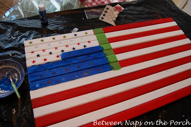 Make a Pottery Barn Inspired Flag