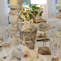 Shell Chargers for a Coastal Themed Table Setting