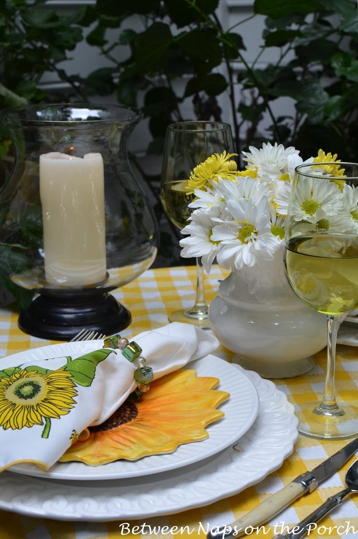 Sunflower Table Setting for Two